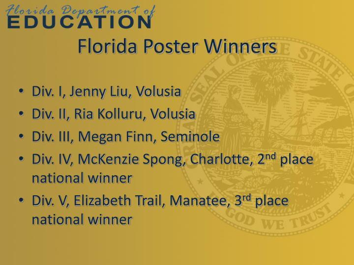 Florida Poster Winners