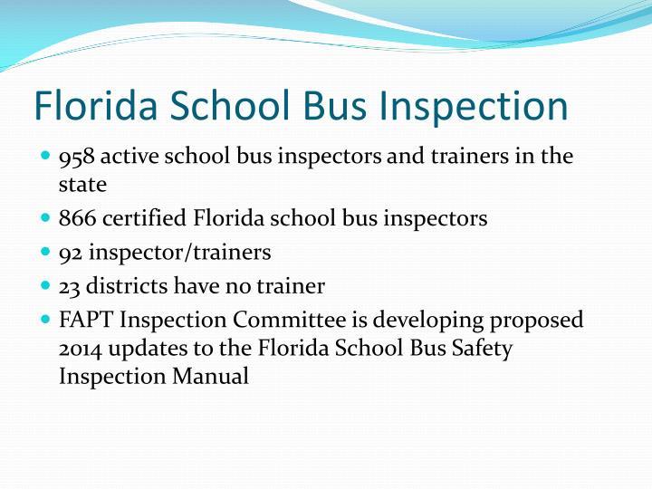 Florida School Bus Inspection