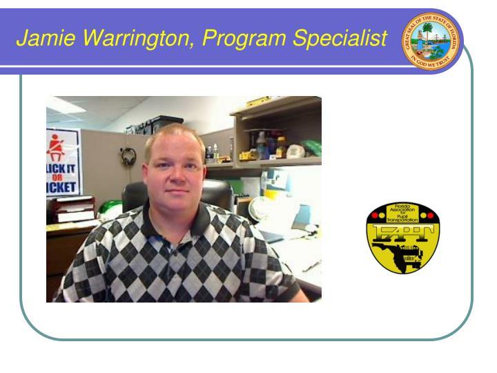 Jamie Warrington, Program Specialist