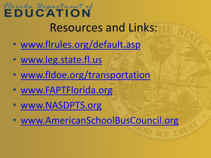 Resources and Links: