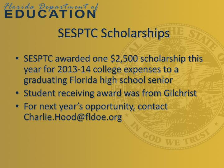 SESPTC Scholarships