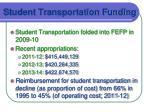 student transportation funding