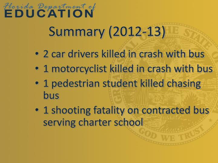 Summary (2012-13)