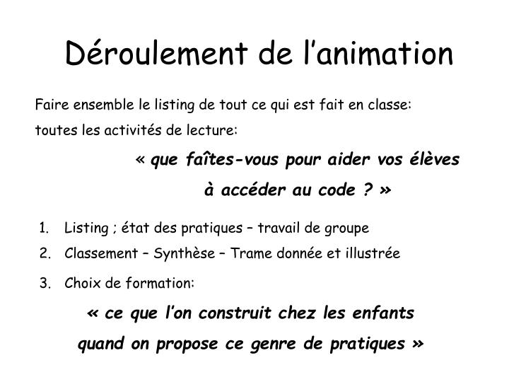 D roulement de l animation