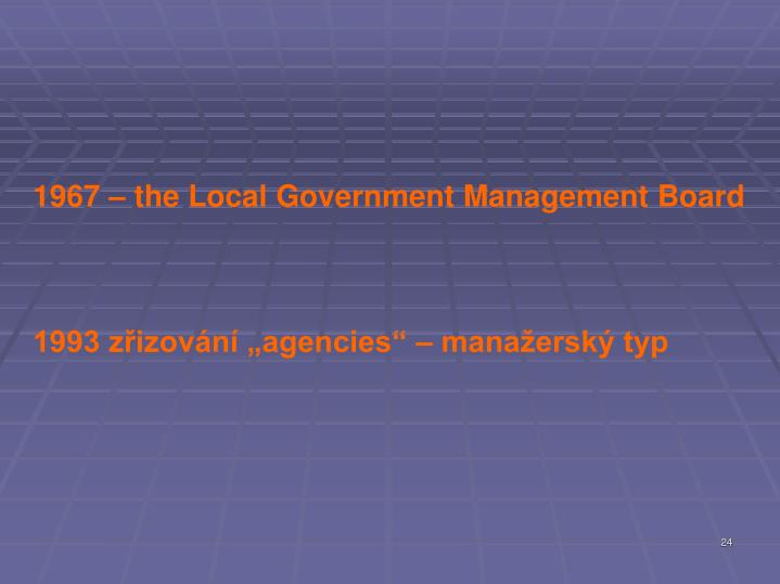 1967 – the Local Government Management Board