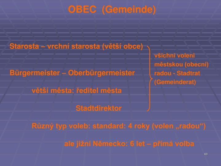 OBEC  (Gemeinde)