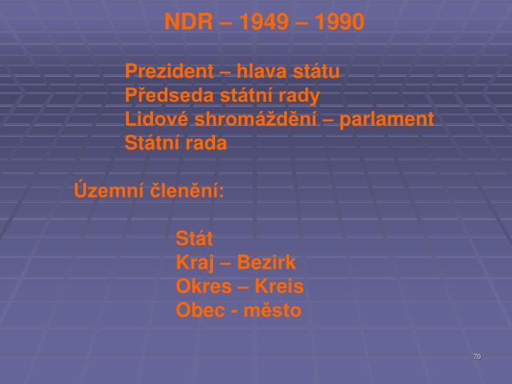 NDR – 1949 – 1990