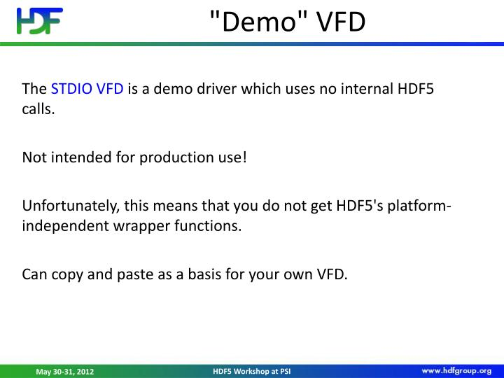 """Demo"" VFD"