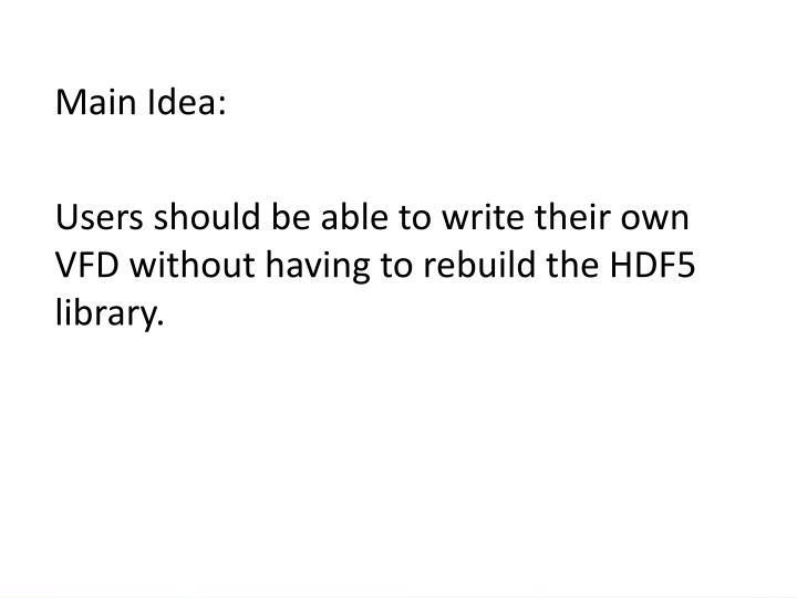 Main Idea: