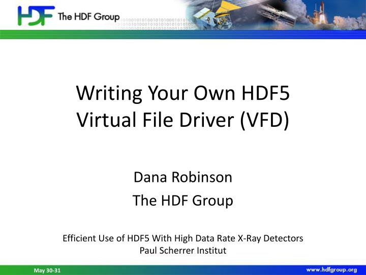 Writing Your Own HDF5