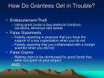 how do grantees get in trouble