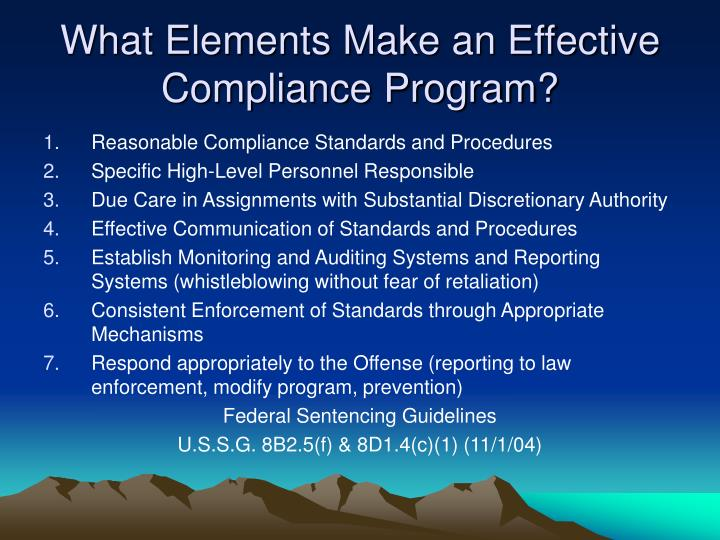 What Elements Make an Effective Compliance Program?