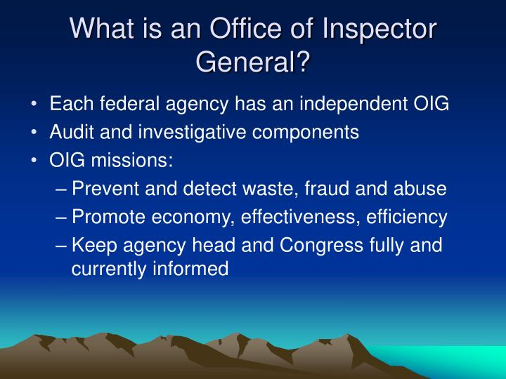 What is an Office of Inspector General?