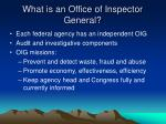 what is an office of inspector general