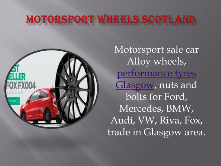 Motorsport wheels scotland