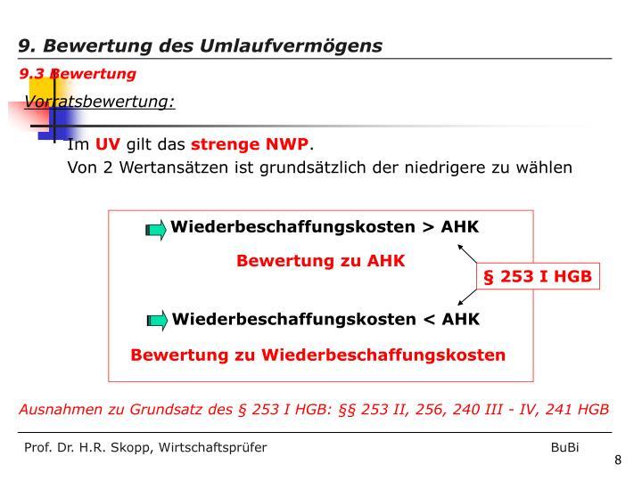 Wiederbeschaffungskosten > AHK