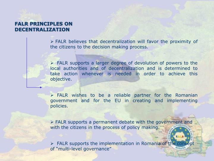 FALR PRINCIPLES ON