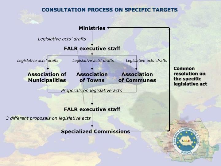 CONSULTATION PROCESS ON SPECIFIC TARGETS
