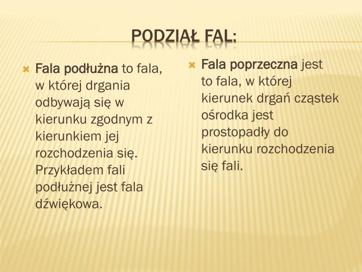 Podział fal: