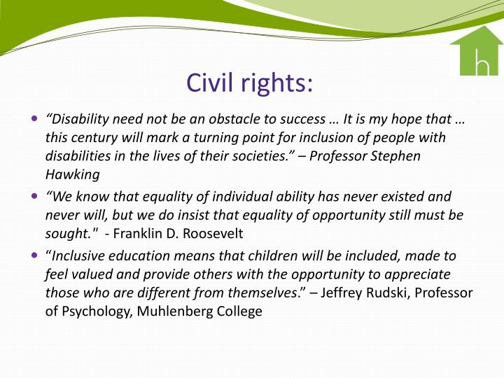 Civil rights: