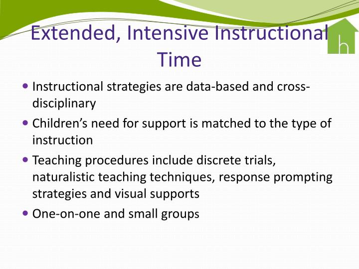 Extended, Intensive Instructional Time
