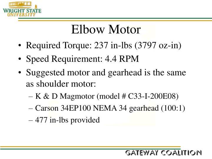 Elbow Motor