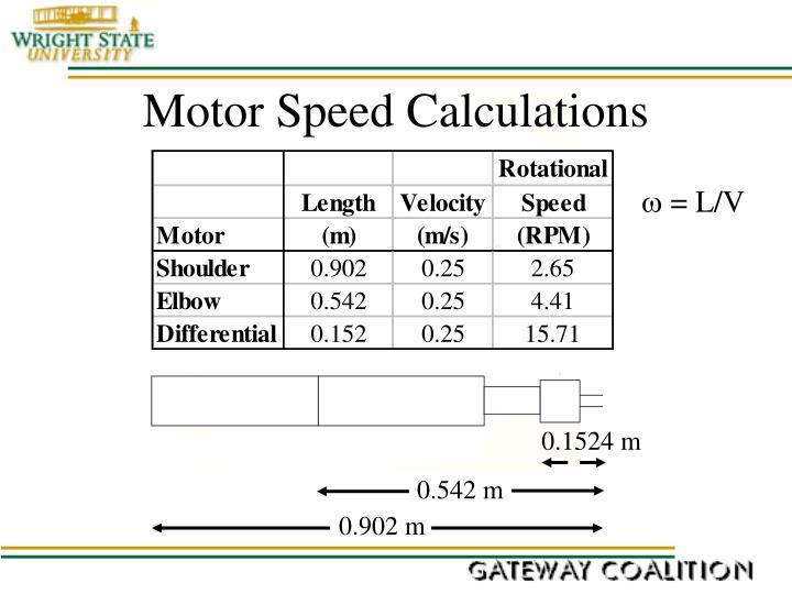 Motor Speed Calculations