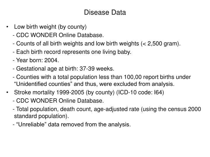 Disease Data