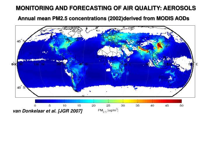 MONITORING AND FORECASTING OF AIR QUALITY: AEROSOLS