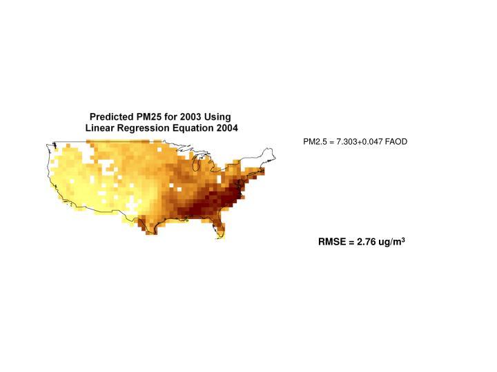PM2.5 = 7.303+0.047 FAOD