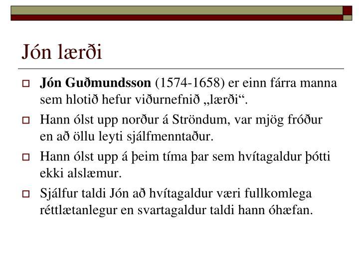 Jón lærði