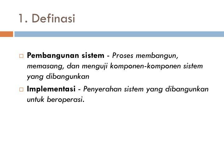 1. Definasi