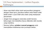 3 5 fasa implementasi latihan kepada kakitangan