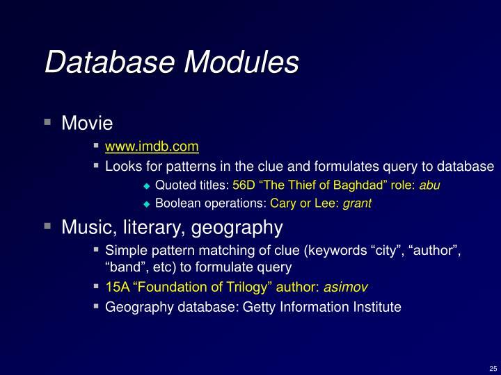 Database Modules