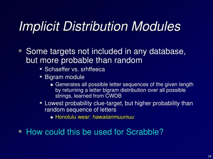 Implicit Distribution Modules