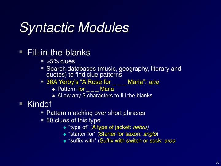 Syntactic Modules