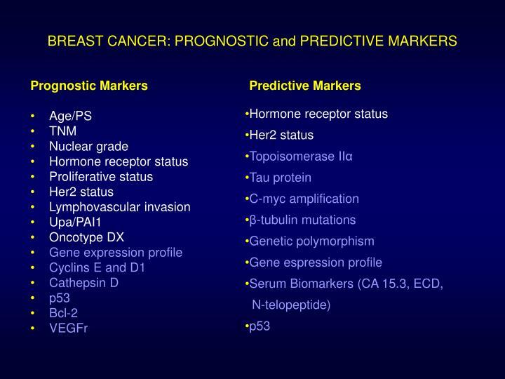 Prognostic Markers