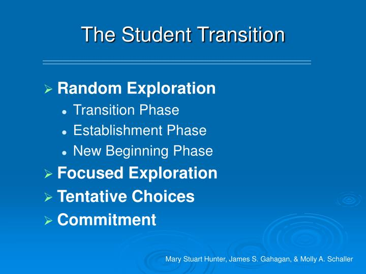 The Student Transition