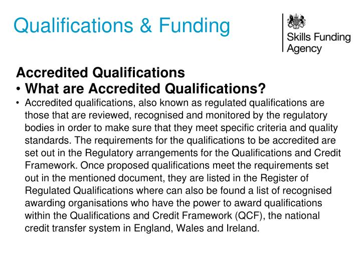 Qualifications & Funding