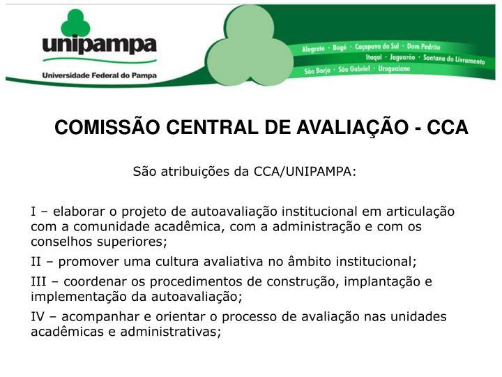 COMISSÃO CENTRAL DE AVALIAÇÃO - CCA