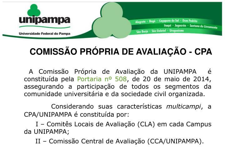 COMISSÃO PRÓPRIA DE AVALIAÇÃO - CPA