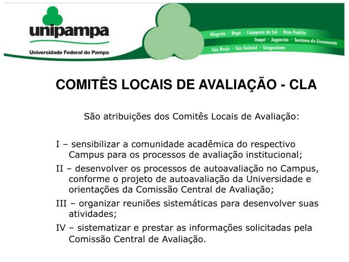 COMITÊS LOCAIS DE AVALIAÇÃO - CLA