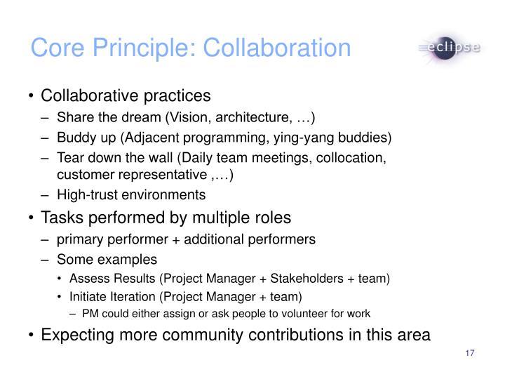 Core Principle: Collaboration