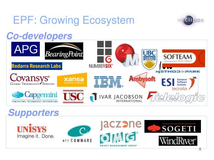 EPF: Growing Ecosystem