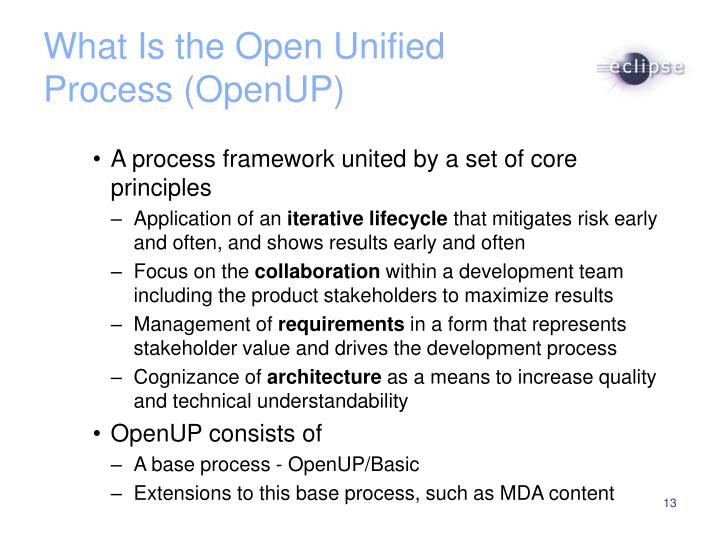 What Is the Open Unified Process (OpenUP)