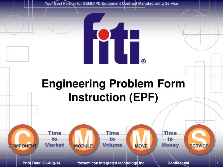Engineering problem form instruction epf