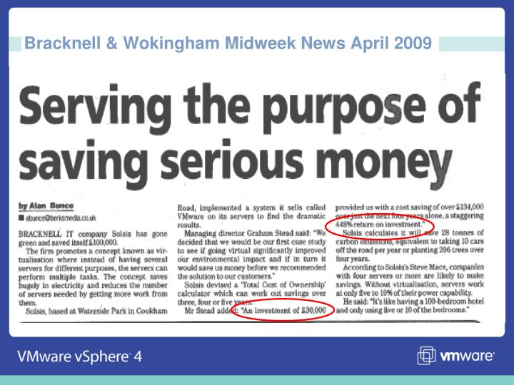 Bracknell & Wokingham Midweek News April 2009