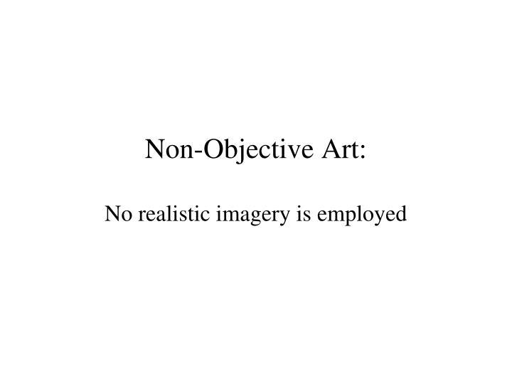 Non-Objective Art: