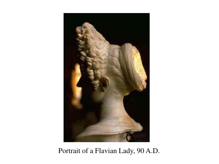 Portrait of a Flavian Lady, 90 A.D.