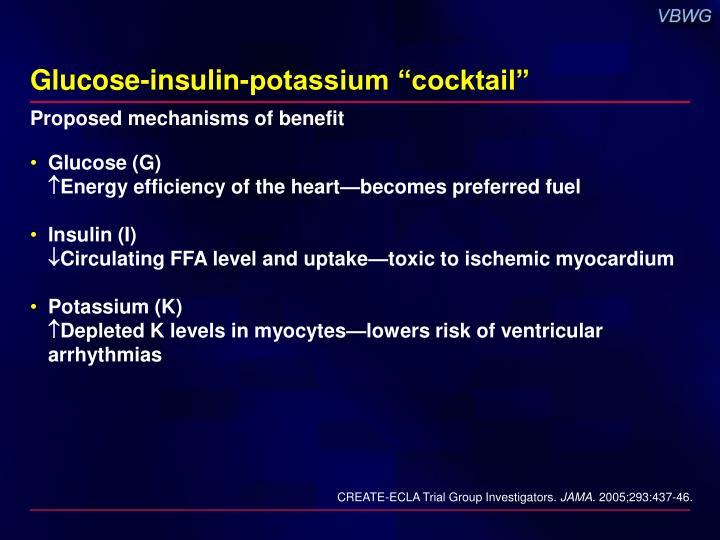 """Glucose-insulin-potassium """"cocktail"""""""